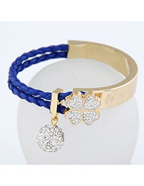 Cute Blue Simple Blink Ball Design Alloy Korean Fashion Bracelet