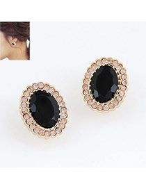 Carters Black Blink Circle Design Alloy Stud Earrings