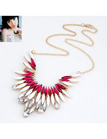 Fashion Picture Color Luxury Feather Design Alloy Korean Necklaces