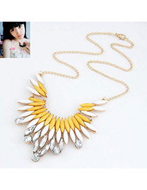 Baroque Picture Color Luxury Feather Design Alloy Korean Necklaces