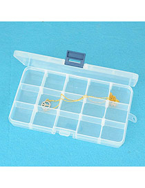 Transparent Yellow Rectangle Shape Waterproof Case Design Pp Household Goods