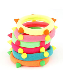 Executive Color Will Be Random Rivets Decorate Design Rubber Band Hair band hair hoop