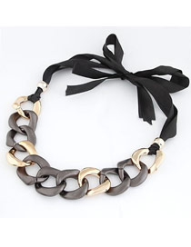 Heavy Coffee Exaggerated Thick Chain Design Alloy