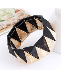 Girls Black Geometry Triangle Shape Alloy Fashion Bangles