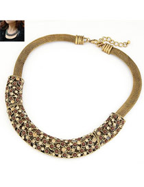 Catholic Gold Color Elegant Gorgeous Short Style Alloy Fashion Necklaces