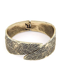 Expired Bronze Punk Style Palace Leaf Design Alloy Fashion Bangles