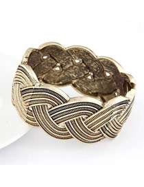 Mini Bronze Braided Weave Exaggerate Alloy Fashion Bangles