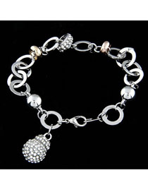 Golf White Diamond Decorated Waterdrop Shape Design Zircon Fashion Bracelets