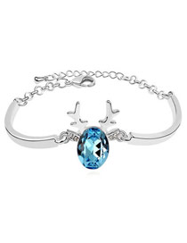 Boutique White Diamond Decorated Dolphin Shape Design Alloy Crystal Bracelets