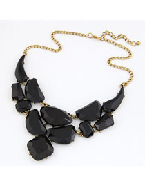 Screw Black Matching Luxury Jewel Design Alloy Bib Necklaces