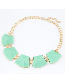 Doggie Light Green Luxury Jewel Short Style Alloy Korean Necklaces