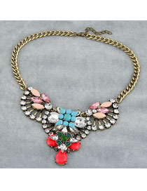 Golf Multicolor Luxury Drop Shape Design Alloy Fashion Necklaces