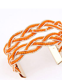 Limited Orange Bohemia Beads Style Alloy Fashion Bangles
