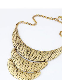 Stylish Gold Color Crescent Moon Shape Alloy Korean Necklaces