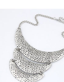 Modern Silver Color Crescent Moon Shape Alloy Korean Necklaces