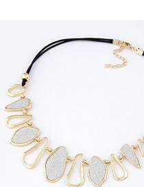 Skate Gold Color Geometry Abrazine Design Alloy Korean Necklaces