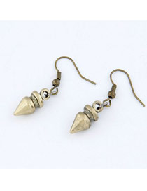 Fabulous Bronze Bullet Shape Design Alloy Korean Earrings