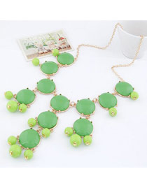 Inspiratio Green Bohemia Simple Design Alloy Korean Necklaces
