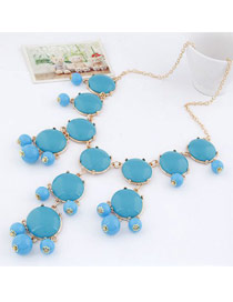 Hunting Blue Bohemia Simple Design Alloy Korean Necklaces