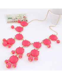 Pantsuit Plum Red Bohemia Simple Design Alloy Korean Necklaces