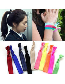 Fashion Multi-color Twist Shape Decorated Pure Color Simple Hair Band (color Randomly)