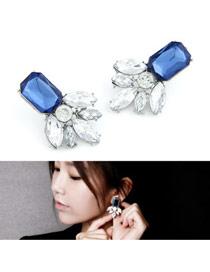 Cardboard Sapphire Geometric Shape Pendant Design Alloy Stud Earrings
