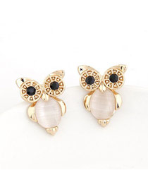 Lovable White Owl Shape Simple Design