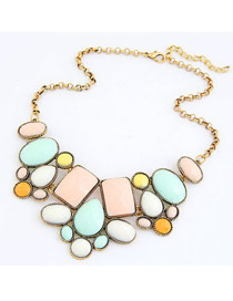 Correspond Multicolor Various Of Geometric Shape Pendant Design