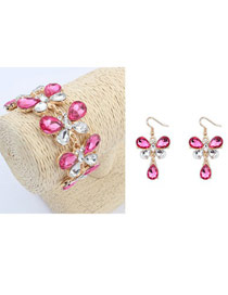Fashion Silver Color Waterdrop Shape Decortaed Jewelry Sets(2pcs)