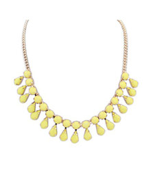 Propper Yellow Water Drop Pendant Design Alloy Bib Necklaces