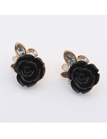 Adjustable Black Rose Shape Design
