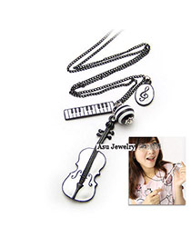 Attractive Silver Color Shiny Side Charm Design Alloy Chains