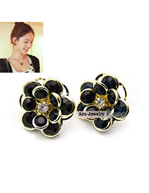 Fashion Multi-color\ Crown Shape Decorated Earrings ( 4 Pcs)