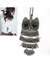 Timeless Antique Silver Owl Alloy Korean Necklaces