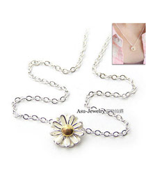 Convertibl Beige Flower Pendant Alloy Chains