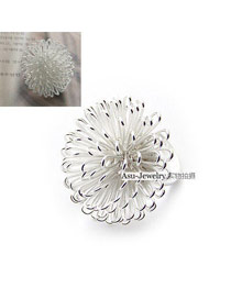 Choker white Taraxacum Sahpe alloy Korean Rings