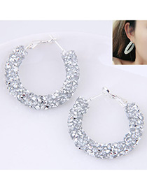 Fashion Transparency Pure Color Decorated Earrings