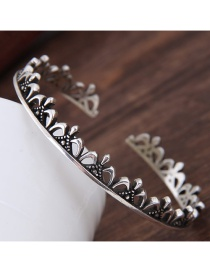 Fashion Silver Color Crown Shape Decorated Opening Bracelet