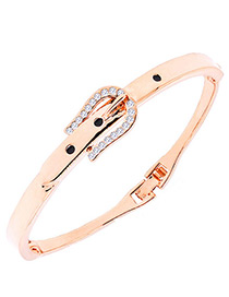 Fashion Gold Color Buckle Shape Decorated Simple Bracelet