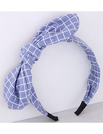 Fashion Light Purple Bowknot Shape Decorated Pure Color Hair Hoop