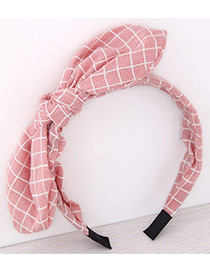 Fashion Light Pink Bowknot Shape Decorated Pure Color Hair Hoop
