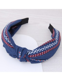 Fashion Red+white+blue Flower Pattern Decorated Hair Hoop