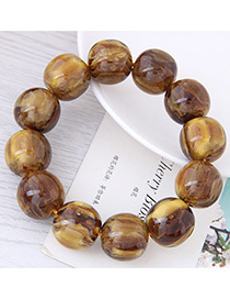 Fashion Coffee Bead Decorated Bracelet