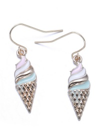 Lovely Multi-color Ice Cream Decorated Earrings