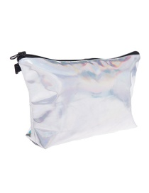 Fashion Multi-color Pure Color Decorated Waterproof Cosmetic Bag