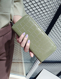 Fashion \ Pure Color Decorated Wallet
