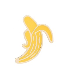 Fashion Yellow Banana Shape Decorated Pure Color Brooch