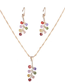 Fashion Gold Color Leaf Shape Decorated Jewelry Sets