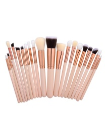 Fashion Beige Pure Color Decorated Brush (20pcs)