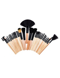 Fashion Beige Color-matching Decorated Brush (32pcs)